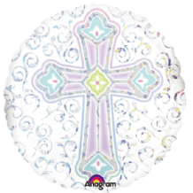 "Radiant Cross Foil Balloon (18"") 1pc"